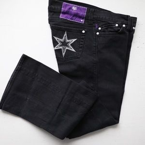 DVB embroidered star black Jeans